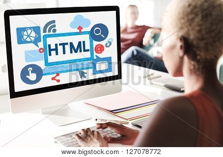 HTML Internet Coding Website Software Concept