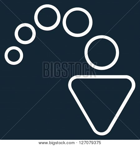 Redo vector icon. Style is stroke icon symbol, white color, dark blue background.