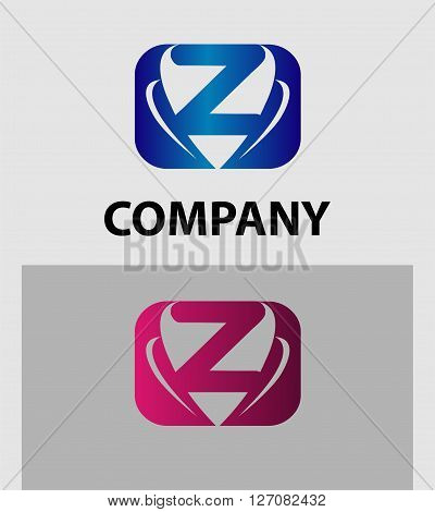 Letter Z logo. Abstract Z logo Symbol icon set