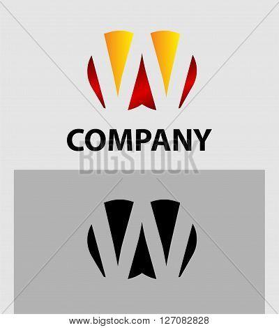 Letter W. Letter W logo icon design template elements