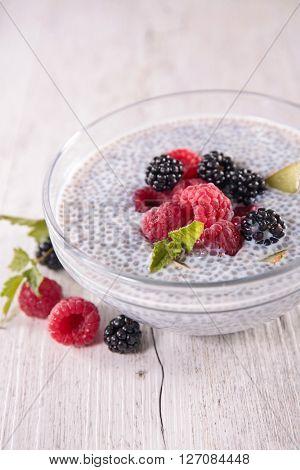 acai bowl and berry fruit