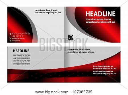 brochure design. Bi-Fold Brochure Design. Corporate Leaflet, Cover Design Template