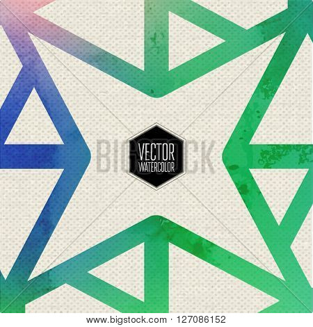 Tile  Watercolor Ethnic Tribal Ornamental Pattern. Best for Fabric, Scrapbooking, Wrapping Paper, Greeting and invitation card Design Template.