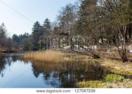 Water lake in karuizawa, Japan