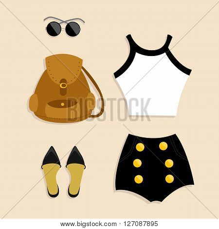 outfit of the day vector illustrated trendy