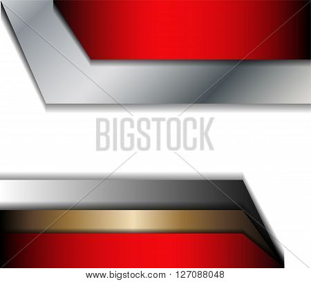 Red background curve line on space shadow overlap and dimension modern texture pattern for text and message website design