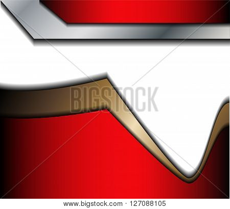 Red background gray curve line on space shadow overlap and dimension modern texture pattern for text and message website design
