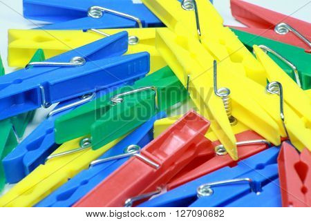 image of many set of plastic clothespin