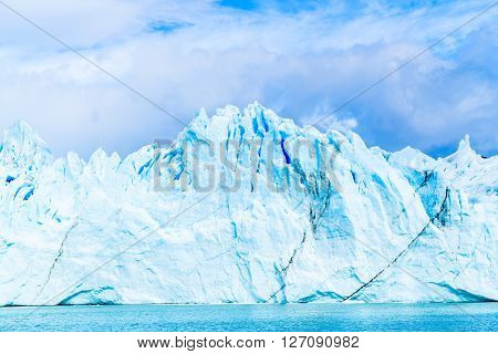 View of Ice Mountain at Perito Moreno Glacier in Argentina