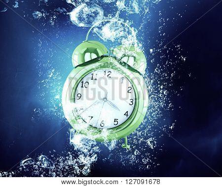 Clock under water