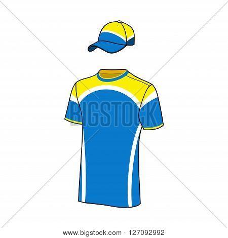 Vector T-shirt sport designs and baseball cap.