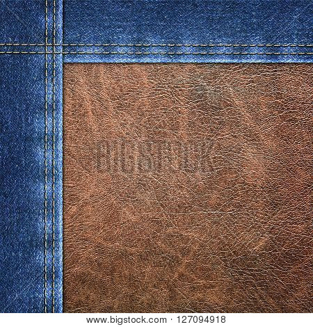 the background a combined denim close up