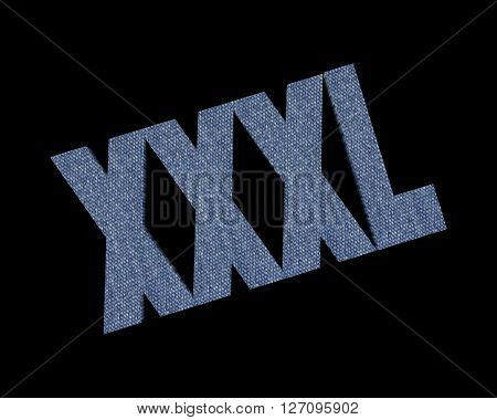XXXL - 3d word with reflection !