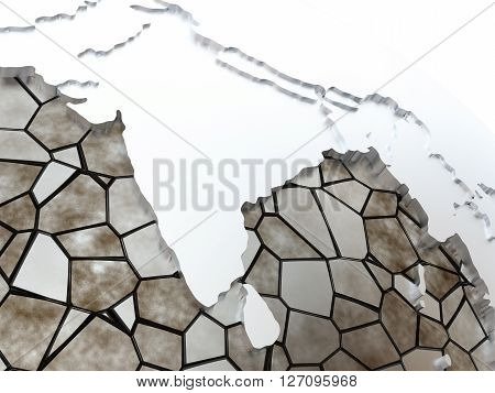 India On Translucent Earth