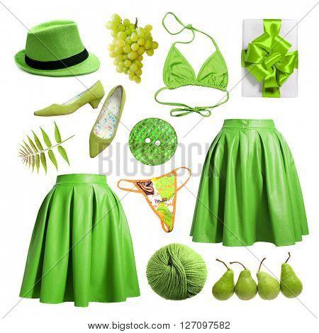 Women's green clothing