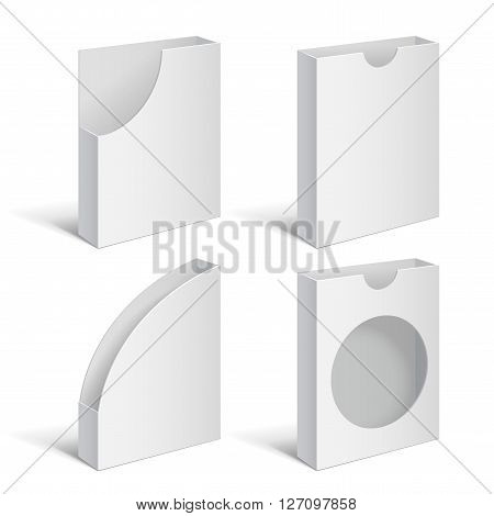 Set folders holders. Document folders. Folders for brochures. Mailbox holders of securities. Vector Illustration