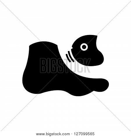 Bold Icon Fish spa feet icon vector design eps 10.