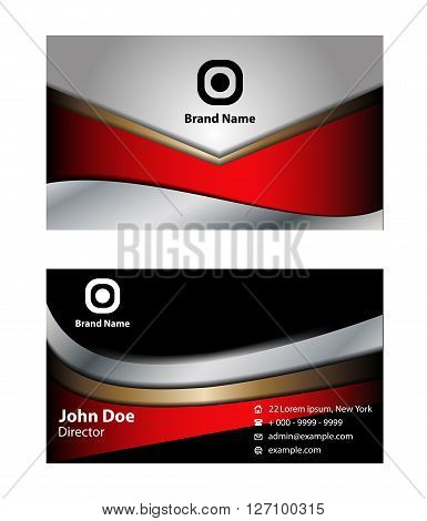 Vector set of business cards design template