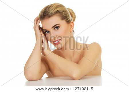 Relaxed happy woman