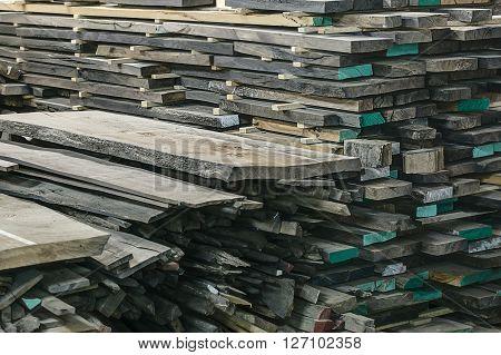Wooden oak boards aligned in pattern backgorund