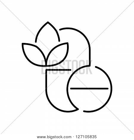 Line Icon Style,  Pills Alternative Medicine Icon