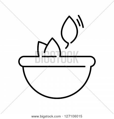 Line Icon Style, Herbs In Bowls Icon