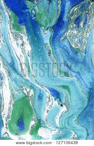 Marble paper. Marble ink texture. Ebru background. Marbled paint. Hand painted marbling illustration