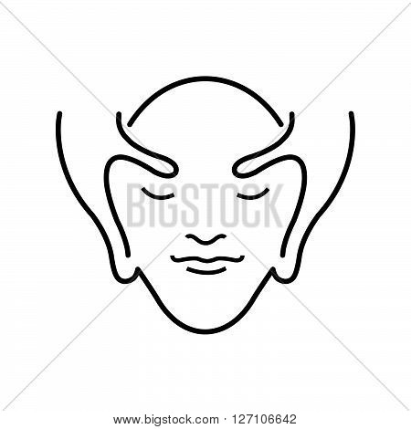 Line Icon Style Facial massage icon support vector design  eps 10.