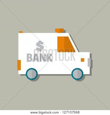 Collector Car vector icon. bank car. illustration vector.