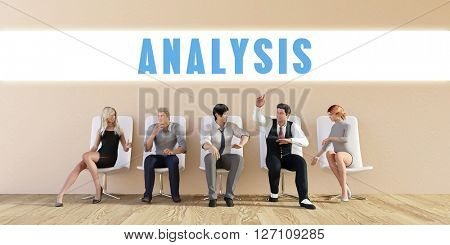 Business Analysis Being Discussed in a Group Meeting 3D Illustration Render