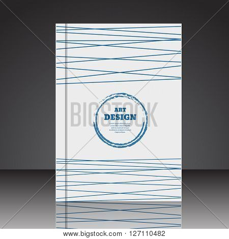 Abstract Composition Brochure Background A4 Eps10 Vector Illustration 3
