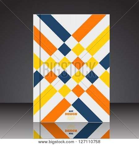 Abstract Composition Brochure Background A4 Eps10 Vector Illustration 6