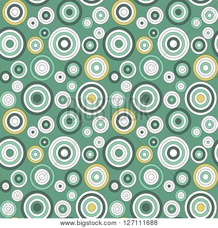 Modern seamless pattern of concentric thin rings geometrical vector background colorful illustration