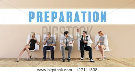 Business Preparation Being Discussed in a Group Meeting 3D Illustration Render
