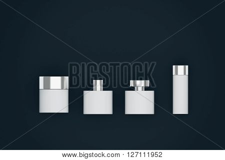 White Bottles Dark Background