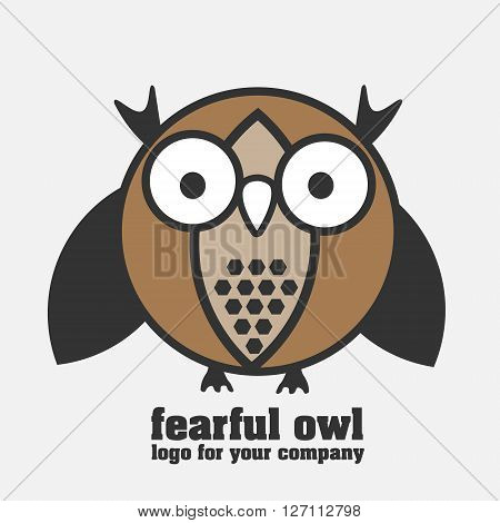 Fearful owl logotype