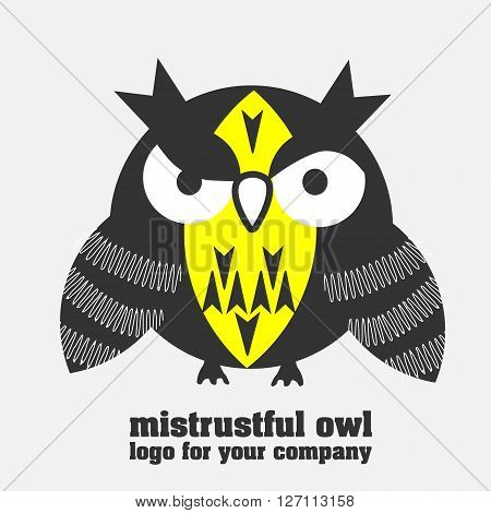 Mistrustful owl logotype