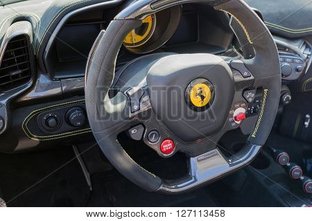 Ferrari Dashboard On Display