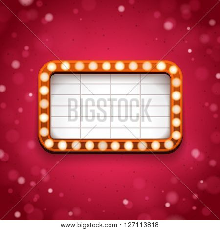 Theater signboard