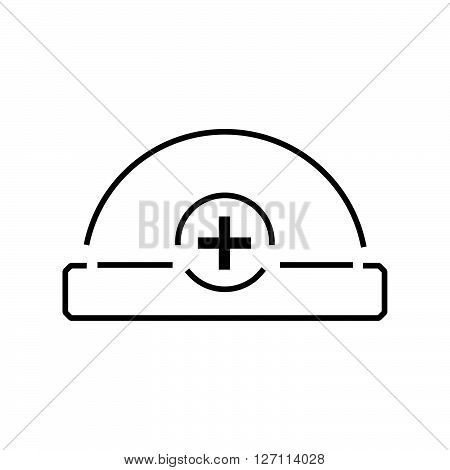 Line Icon Ambulance Hat And Medical Icon