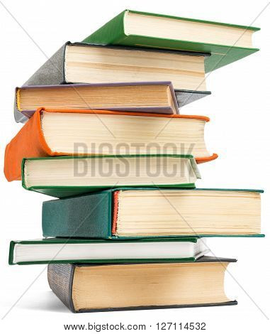 Stack of books. Isolated on white background