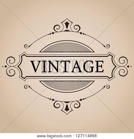 Vector victorian frame for label