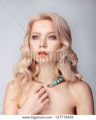 Portrait Of Beautiful Female Model.