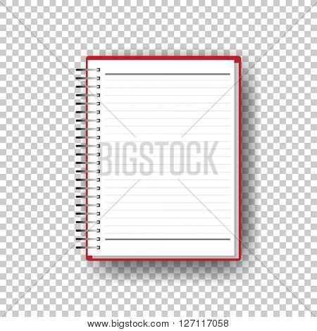 open blank notebook white paper. eps10 vector