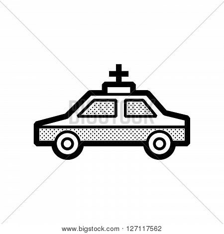 Saloon car ambulance car icon support vector design  eps 10.