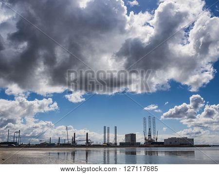 Esbjerg harbor Denmark the Metropol of energy