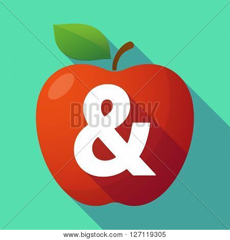 Long Shadow Red Apple With An Ampersand
