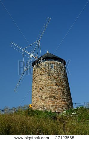 A view of the old windmill at St. Monans