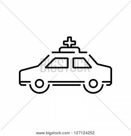 Line Icon Saloon Car Ambulance Car Icon