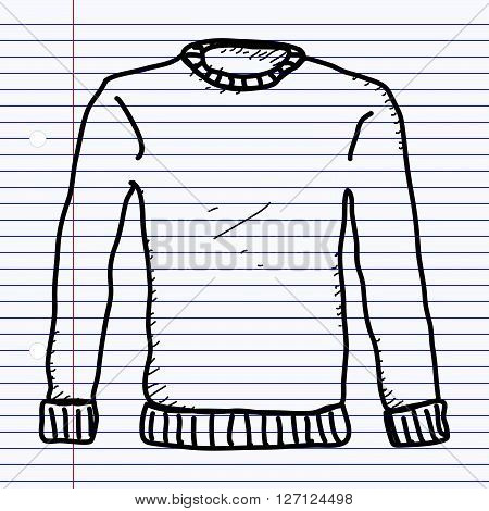 Simple hand drawn doodle of a jumper